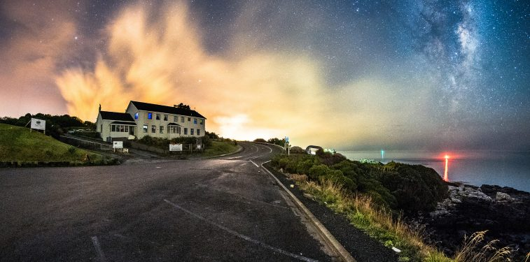 Lands End Hotel Bluff at Night