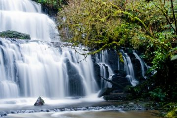The Catlins has many beautiful cascading waterfalls
