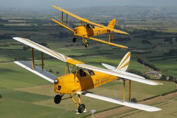 Fly in a vintage Tiger Moth airplane at Mandeville