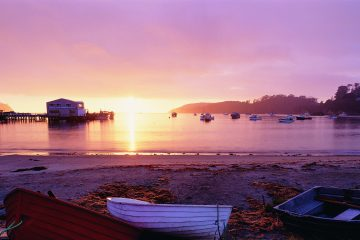 Witness stunning sunrises on Stewart Island