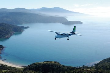 Take a scenic flight to the beautiful Stewart Island