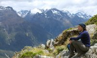 Tramper on the Routeburn Track