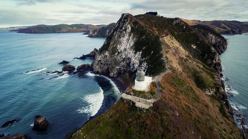 Nugget Point Lighthouse Aerial